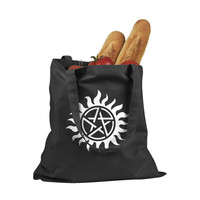 Supernatural protection runes Kanvas Tote bag - 100% Cotton Canvas