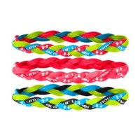 Under Armour Women's Braided Mini Headbands (3-Pack), High-Vis Yellow, One Size