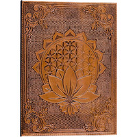 Flower of Life Bronze Metal Diary