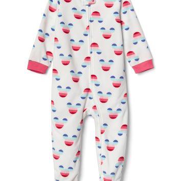 babyGap | Disney Baby Mickey Mouse crazy stripe footed one-piece|gap