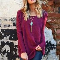 Snuggly Piko Sweater - Scoop