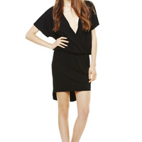 JAGGER DRESS at LNA Clothing in  BLACK W/ BLACK LACE