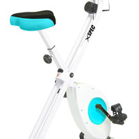 Xspec Foldable Stationary Upright Exercise Bike Cardio Workout Indoor Cycling blue