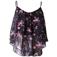 Flowy Floral Tank - Clothing