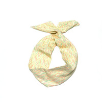 Rainbow Stripe Wire Headband Dolly Bow by All Things in Color