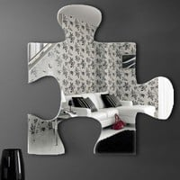 "Graham & Brown Acrylic Shaped Mirror - Jigsaw Mirror - 16"" X 16"" - 42928 - All Wall Art - Wall Art & Coverings - Decor"