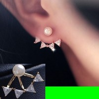 Pearl And Bow Wrapping Ear Cuffs