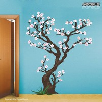 $87.99 Cherry Tree Removable decals for wall Vinyl Art by decalsmurals
