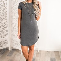 Jordy Basic Dress (Charcoal)
