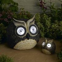 Smart Solar Solar Owl Accent Lights (Set of 2)