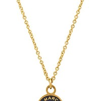 Marc by Marc Jacobs Classic Marc Enamel Disc Pendant Necklace in Gray
