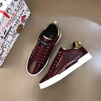 Dolce&Gabbana 2021Men Fashion Boots fashionable Casual leather Breathable Sneakers Running Shoes0519gh