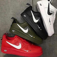 NIKE air force 1 Fashion low-top shoes casual sneakers available for men and women-3