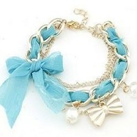 Great Deal Shiny New Arrival Awesome Gift Hot Sale Korean Stylish Handcrafts Lace Butterfly Pearls Bracelet [6057209921]