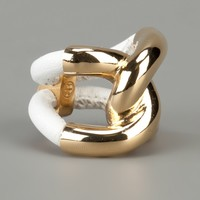 Balenciaga Leather And Gold Ring - Al Duca D'aosta - farfetch.com