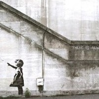 """There Is Always Hope Balloon girl by Banksy Giclee Canvas Art Print #2168 18""""x12"""""""