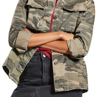 Sampson Camo Shirt Jacket (Regular & Petite) | Nordstrom