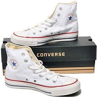 """""""Converse"""" Fashion Casual Running Canvas Flats Sneakers Sport Shoes White G"""