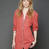 Free People  Shirt Dress at Free People Clothing Boutique