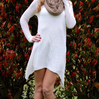 Vanilla Baby Sweater Dress: Cream