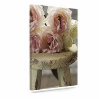 """Cristina Mitchell """"Roses on Stool"""" Floral Photography Canvas Art"""