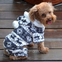 2014 New Pet Dogs Puppy Winter Soft Fleece Fashional Warm Four Feets Hoodie Clothes Coats Gray = 1929851396