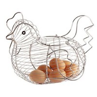 30cm x 25cm Chrome Plated Wire Large Chicken Basket
