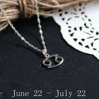 Cancer Necklace, Cancer Zodiac, Cancer Charm Necklace, Cancer constellation, Astrological sign