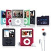 free shipping MP3 sport music mp3 With Micro TF/SD Card playing time for 30hours slim 4th MP3 Player Slot player - Default