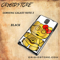 C3PO Hello Kitty Star Wars Black White Snap On 3D For Samsung Galaxy Note 3 Case