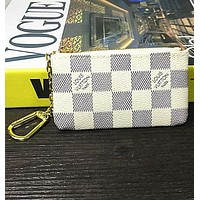 Louis Vuitton Monogram Canvas Key Pouch Key case - purse B-MYJSY-BB White Tagre™