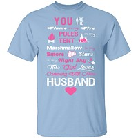 Love Husband and Camping T-Shirt