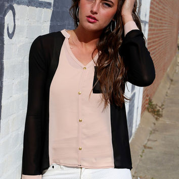 Some Kind of Beautiful {Nude/Black Blouse}
