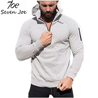 Men gyms hoodies gyms Fitness bodybuilding Sweatshirt Cross fit pullover sportswear male workout Hooded Jacket clothing