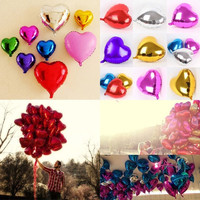 "1/5/10/20pcs 18""/45cm Foil Heart Love Shape Helium Balloons Birthday Party Wedding Decoration = 1946719748"