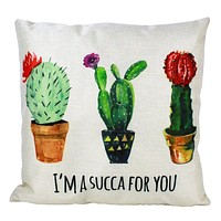 I'm a Succa for You Cactus Pillow Cover | Cactus Pillow Cover | Cactus Pillow |  | South Western