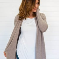 Everything Nice Cardi - Taupe