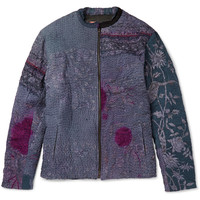 By Walid - Patchwork Bomber Jacket   MR PORTER