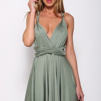 Addicted To Love Dress Olive Green