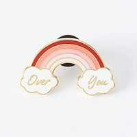 Over you enamel pin
