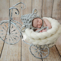 Newborn Baby Girls Boys Crochet Knit Costume Photo Photography Prop = 4457482628