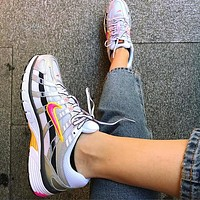 Nike P-6000 CNPT series retro old-fashioned leisure sports comfortable running shoe white rose red hook