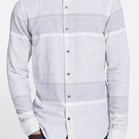 Men's Vince 'Melrose' Trim Fit Stripe Sport Shirt,