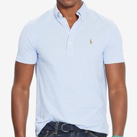 Polo Ralph Lauren Men's Hampton Cotton Polo Shirt Men - Polos - Macy's