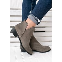 Best For You Leather Booties (Grey)