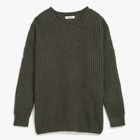 Ribbed Knit Oversized Sweater