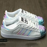 Adidas Shamrock SUPERSTAR metal shell head shining shoes COLORFUL G-A0-HXYDXPF