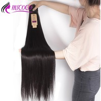 Mscoco Hair 28 inch 30 32 34 36 38 40 inch Bundles Peruvian Straight Hair Weave Bundles Remy Human Hair Extensions