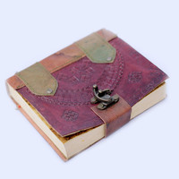 Leather Handmade Bound Journal Diary - Journal - Leather Diary - Journal Leather Handmade Diary - Best Gift Idea - Leather Journal