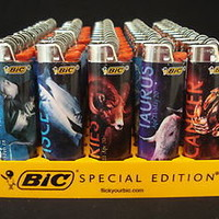 7 Bic Regular Size Lighter Zodiac Astrology Horoscope Designs